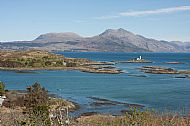 Isle Ornsay, Loch Hourn and Beinn Sgritheall