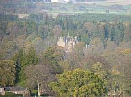 Glamis Walk - Glamis Castle through the trees