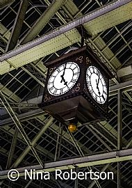 Roof and clock at Glasgow Central Station