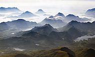 Flying towards the Lofoten Islands