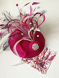 Fascinator design with client fabric match