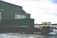 H D Fraser garage at Balblair, the gable wall still exists