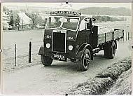 Three photos of Highland Haulage lorries. There was a very busy depot at the Leanaig cross-roads