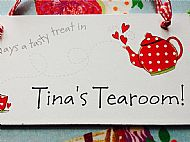 Tina's tearoom voucher and cake