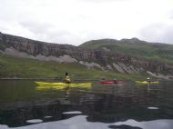 North West Geopark-paddling below the famous Glencoul Thrust Line