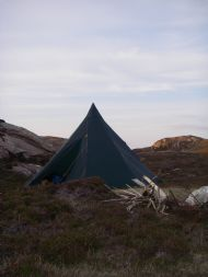 Tipi camp on the beautiful 'Tanera Beag'