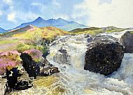 Cuillin from Allt Dearg Waterfall