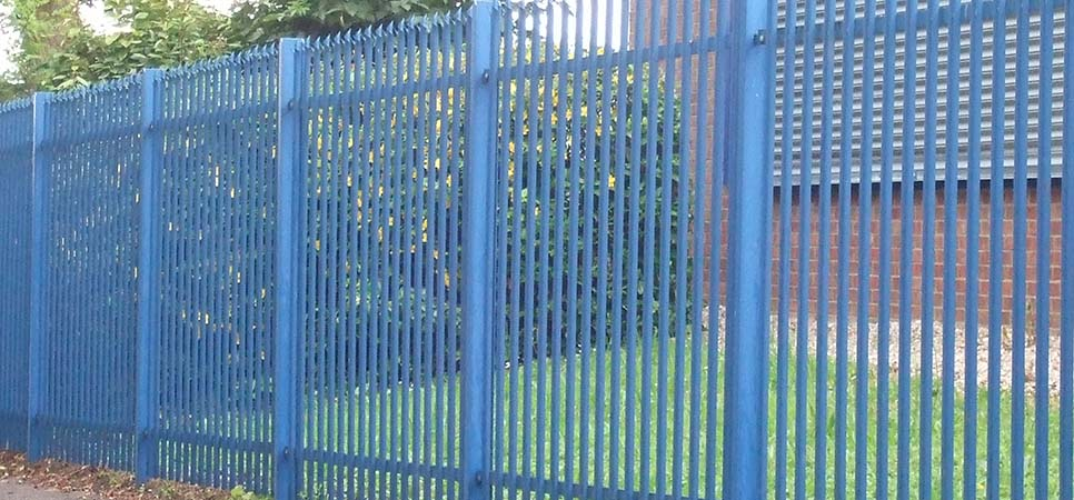 commercial - powder coated metal fencing