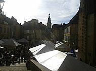 Lunch in the square in Sarlat