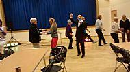 Stefan with the members dancing