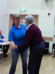 Miriam dancing with Alex