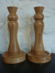oak candlesticks