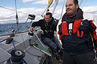Skipper gets wet