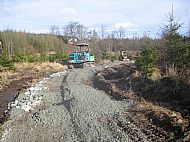Access route under construction - Achnabreac