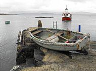 Creel prawn boat and tender Argyll