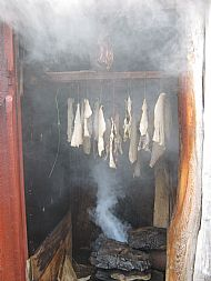 Smoking our cod - Iceland