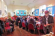 A welcome hot drink at the community hall