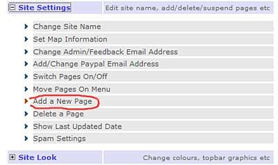 locate add new page from your admin options