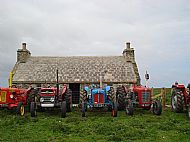 HPA154   Orkney Vintage Club, rally of tractors outside The Croft   9th June 2012 (A Thompson)