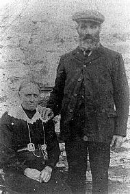 HPA682   Thomas Drever and Sibella (nee Scott) of Hynegreenie. He farmed Tresness for 50 years