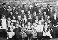 HPA443   Burness School, Alfred Alexander Alexander, 2nd back row, 3rd from left.