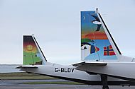 HPA605   Loganair tailfins 2016