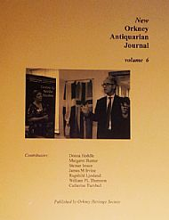 cover of new orkney antiquarian journal vol 6