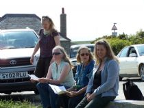 the workshop was held outside in the sunshine!