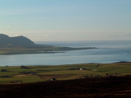 the view of hoy from orphir and stenness