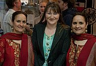 The Singh twins with Hon Curator, Janette Park
