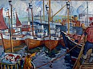 Oil Painting - Norwegian Whalers