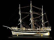 Bone model boat