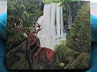 Royal stag oil painting