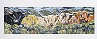 highland cows acrylic on canvas