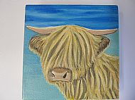 Highland Cow Oil Painting