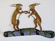 Boxing Hares Hook Bracket