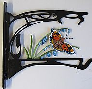 ART NOUVEOU BUTTERFLY BIRDFEEDER BRACKET/ HOOK