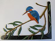 SOLD Will have a similar one finished soon. Art Nouveau Style Kingfisher Hook Bracket