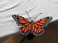 Monarch butterfly garden stake
