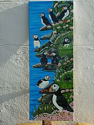 Puffins on the ledges of Lunga SOLD