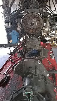 Subframe bevel box and gearbox removed