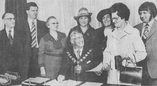 plumtree's first parish council