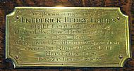 frederick henry holmes - plaque