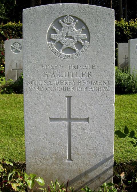 bryant alfred cutler - gravestone