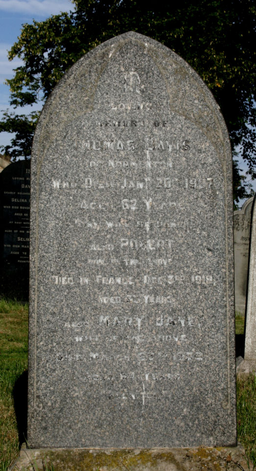 robert davis - memorial