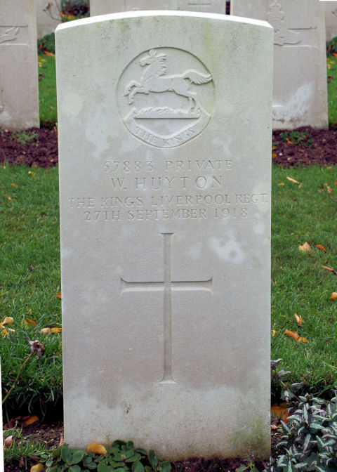 walter huyton - gravestone
