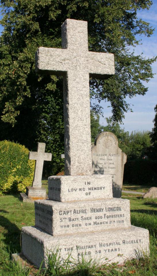 alfred henry longden - gravestone