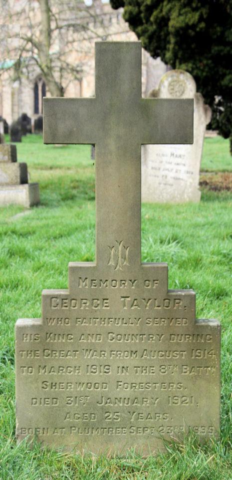 george taylor - gravestone