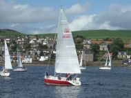 Pre-start manoeuvring in Campbeltown Loch