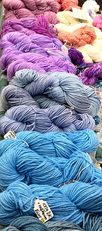 hand dyed yarns, dyed in the crafty ewe